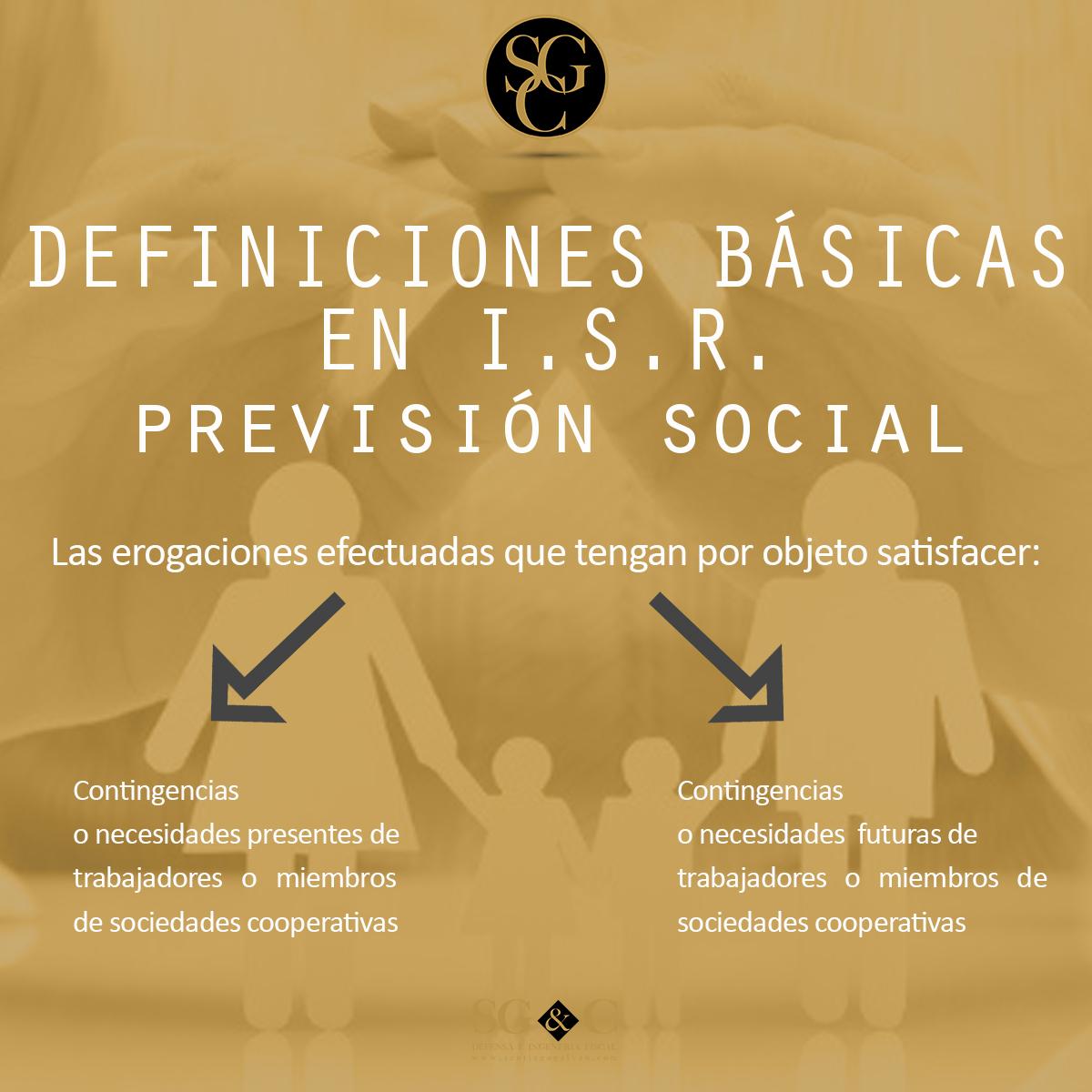 DEFINICIONES BÁSICAS EN I.S.R. Ingresos Acumulables