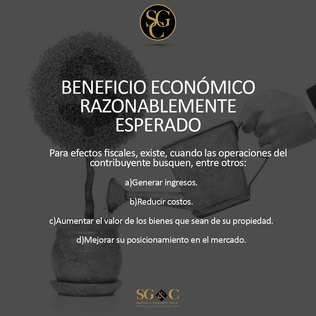 BENEFICIO ECONÓMICO RAZONABLEMENTE ESPERADO