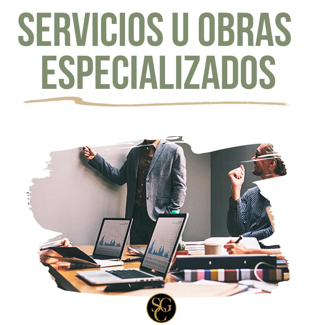 ¿Qué son los servicios u obra especializados?